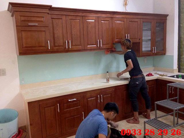 Ảnh Thi Công Kính Ốp Bếp Tại Chung cư Gold Silk Complex số 430 Cầu Am, Vạn Phúc