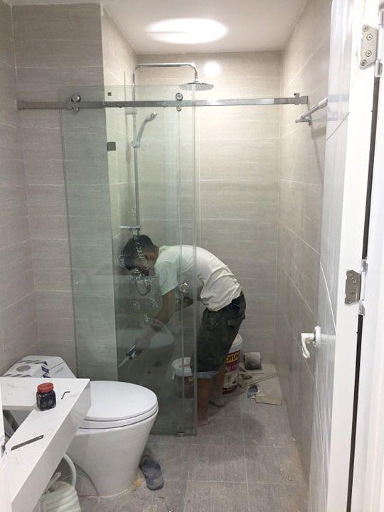 Ảnh thi công thực tế cabin tắm 10x30.