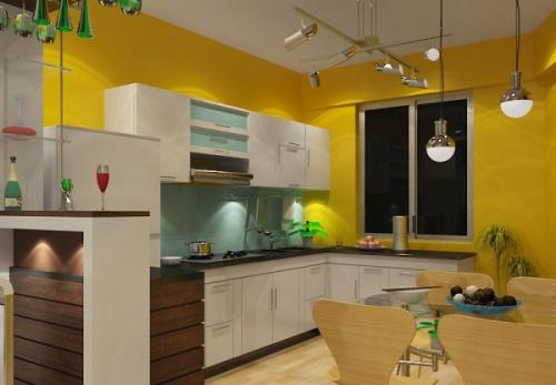 Nguyên tắc phối hợp màu sắc trong nhà bếp