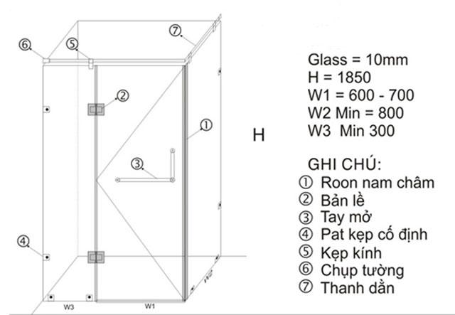 cabin phòng tắm nên sử dụng kính cường lực dày bao nhiêu mm